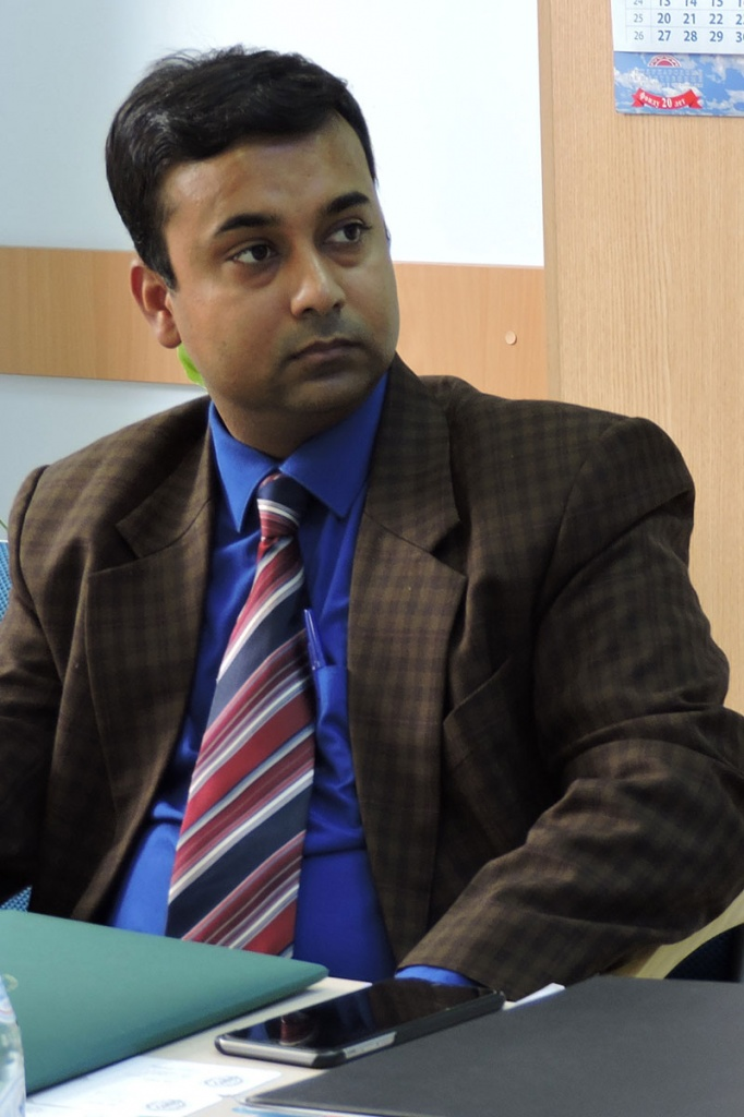 Advisor on Science and Technology of the Republic of India Embassy in Moscow Abhishek Vaish