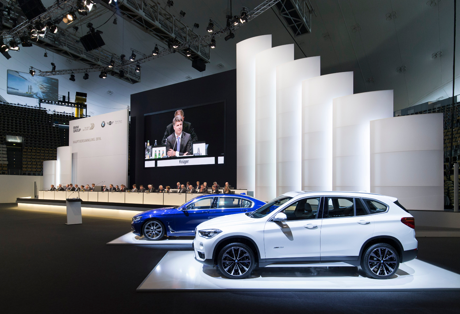 96th Annual General Meeting of BMW AG at Olympiahalle in Munich on 12 May 201