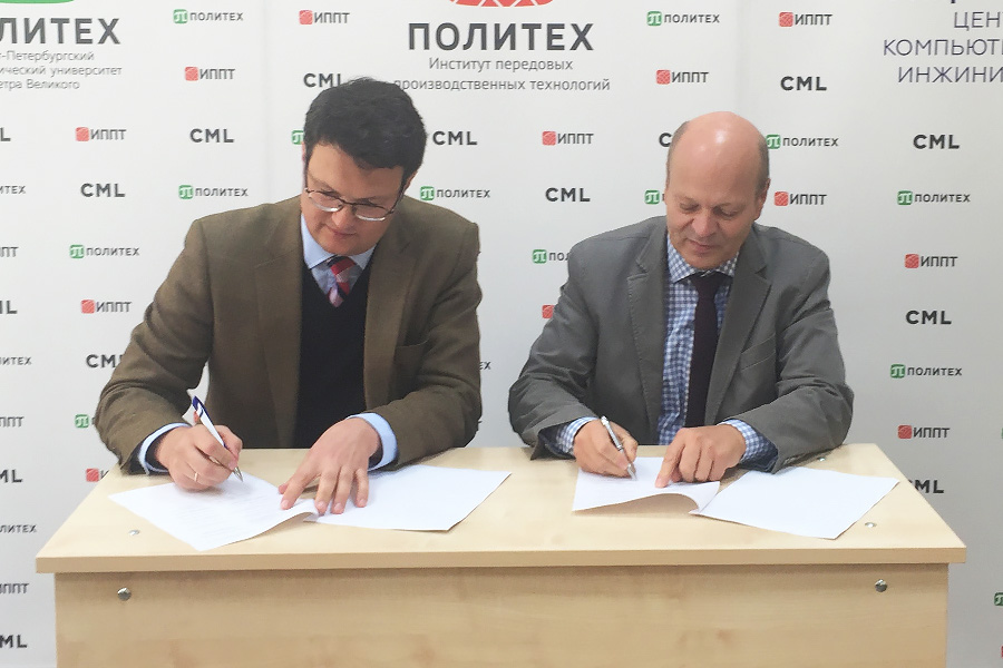 IAMT Director Andrey Falaleev (left) and CEO of Baltico GmbH Dirk Büchler (right) signing MoU