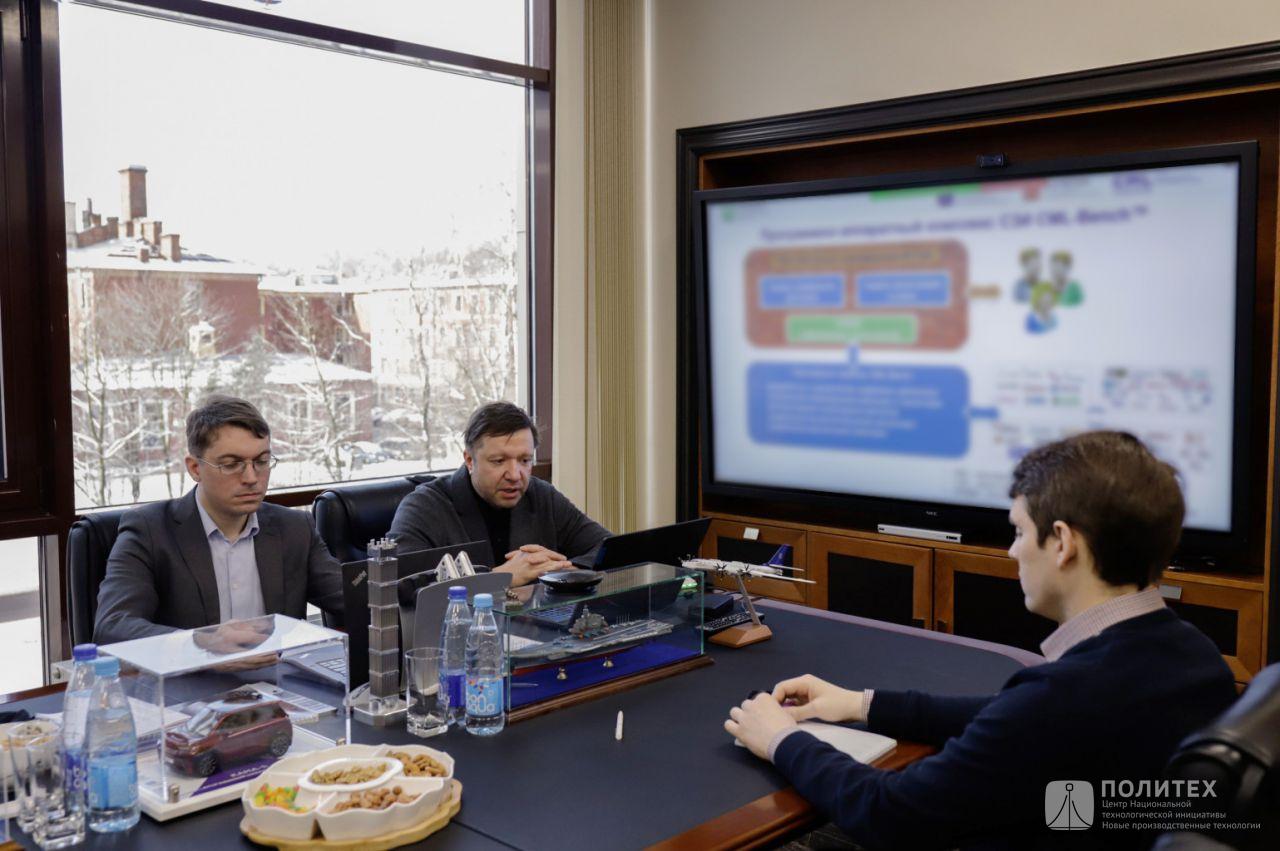 4 - В Центре НТИ СПбПУ состоялось рабочее совещание с президентом НП «РУССОФТ» Валентином Макаровым