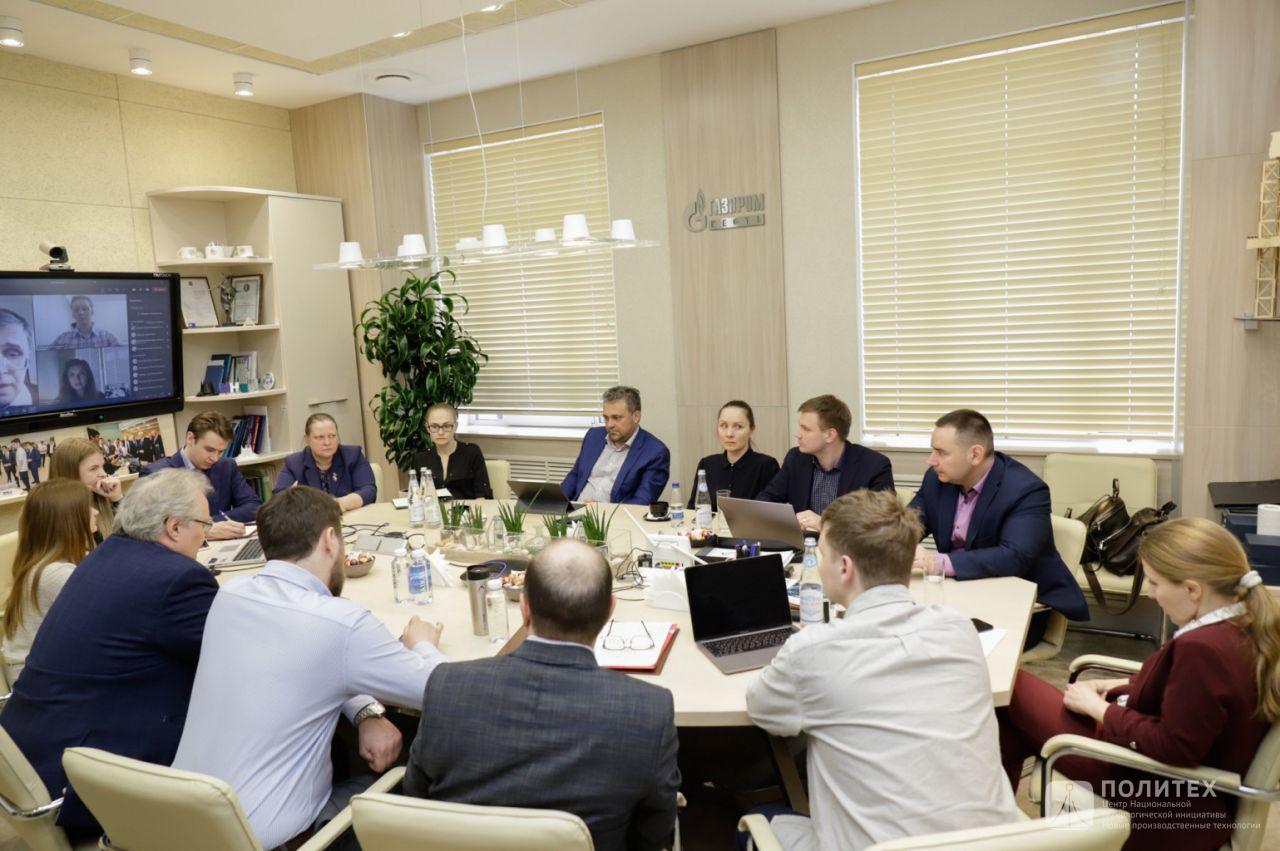 1 - Представители Центра НТИ СПбПУ приняли участие в рабочем совещании с ректором корпоративного университета «Газпром нефть» Ильей Дементьевым