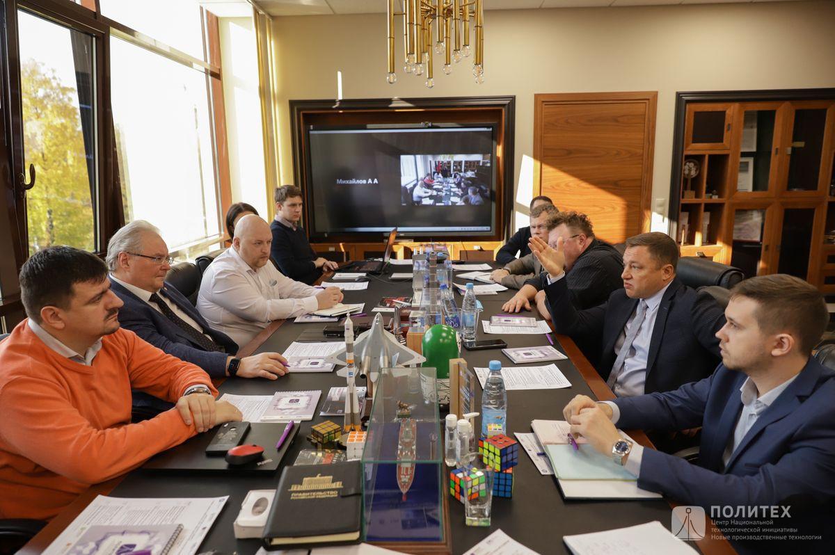 01 - Центр НТИ СПбПУ с рабочим визитом посетил генеральный директор НПО «Центротех» Илья Кавелашвили