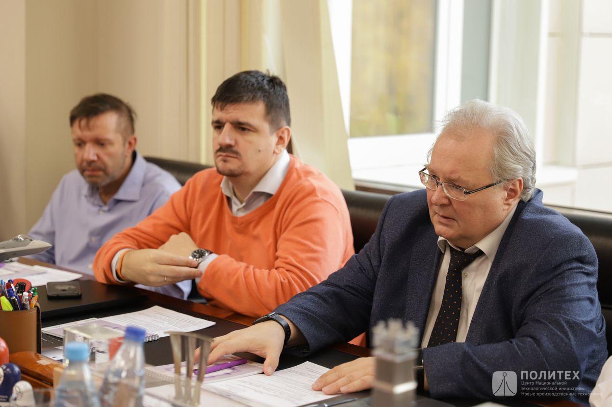 012 - Центр НТИ СПбПУ с рабочим визитом посетил генеральный директор НПО «Центротех» Илья Кавелашвили
