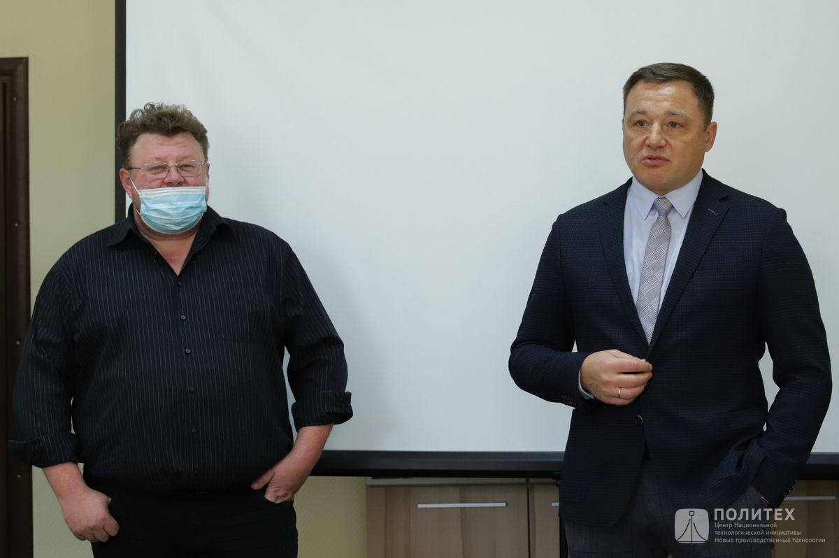 03 - Центр НТИ СПбПУ с рабочим визитом посетил генеральный директор НПО «Центротех» Илья Кавелашвили