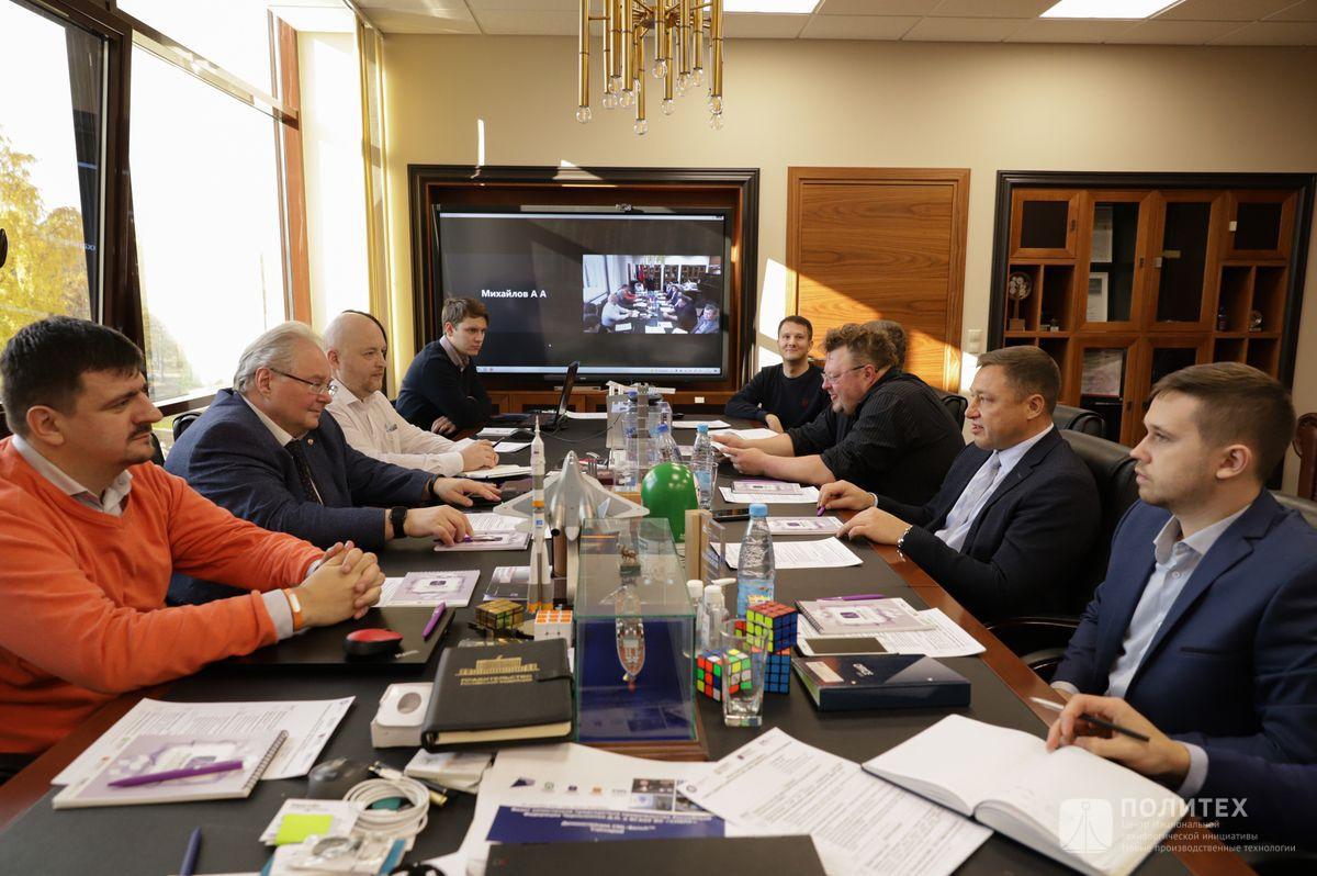 04 - Центр НТИ СПбПУ с рабочим визитом посетил генеральный директор НПО «Центротех» Илья Кавелашвили