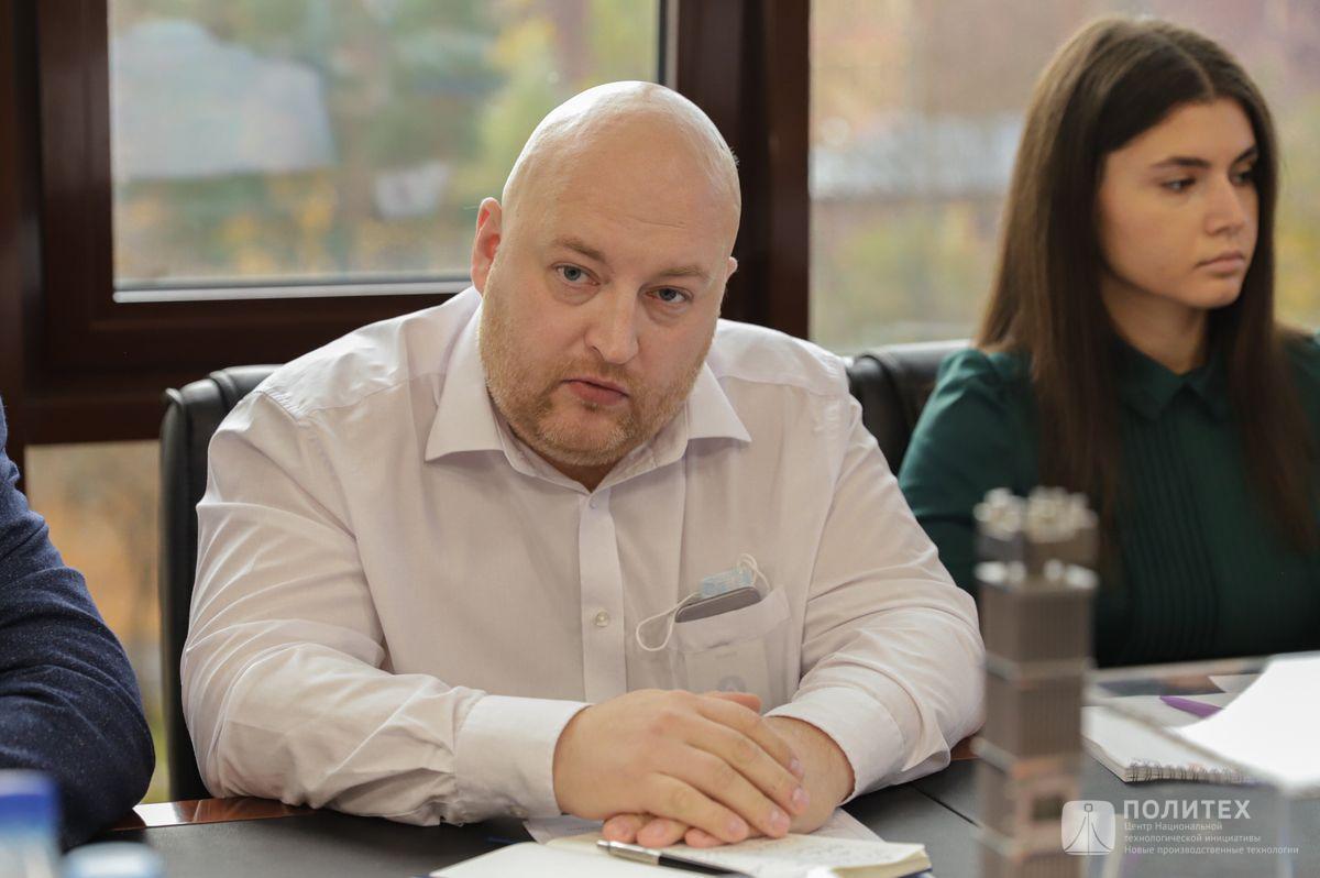 07 - Центр НТИ СПбПУ с рабочим визитом посетил генеральный директор НПО «Центротех» Илья Кавелашвили
