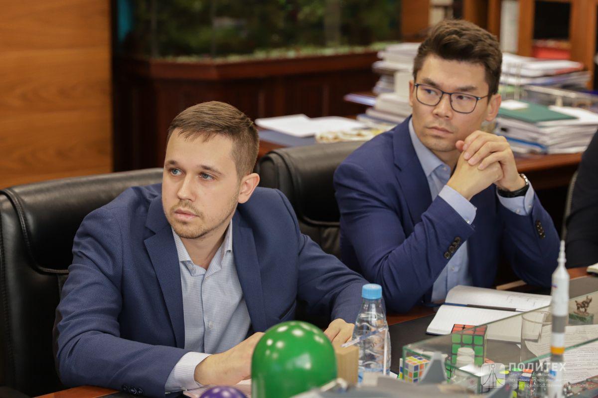 09 - Центр НТИ СПбПУ с рабочим визитом посетил генеральный директор НПО «Центротех» Илья Кавелашвили